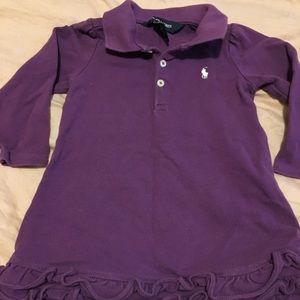 Ralph Lauren dress size 12 months purple